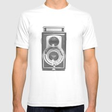 Vintage Camera Mens Fitted Tee White SMALL