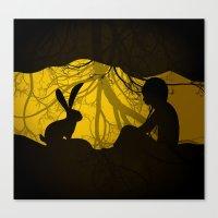 Rabbit hole Canvas Print