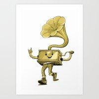 Gramaphone Art Print