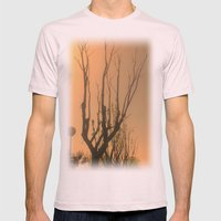 Spiritual trees Mens Fitted Tee Light Pink SMALL