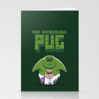 The Incredible Pug Stationery Cards