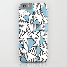 Abstraction Lines Sky Blue Slim Case iPhone 6s
