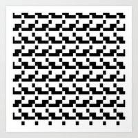 Blankaart Black & White Pattern Art Print
