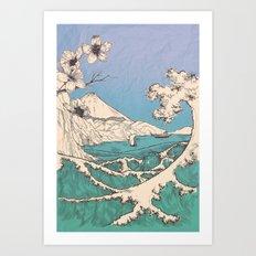 waved Art Print