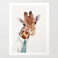 Mr Giraffe Art Print