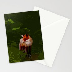 FOX IN A COOL GREEN WORLD Stationery Cards