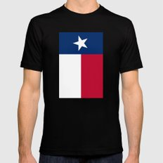 State Flag Of Texas - Ve… Mens Fitted Tee Black SMALL