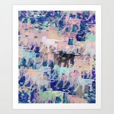 Instinctive Kittens Abstract Art Print