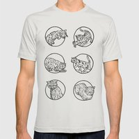 Cat lyf Mens Fitted Tee Silver SMALL