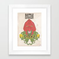 Battle Cathulhu  Framed Art Print