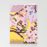 Sakura Pixel Stationery Cards