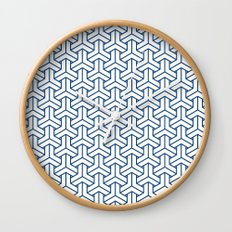 bishamon in monaco blue Wall Clock