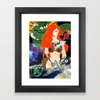 Warrior Lady.  Framed Art Print