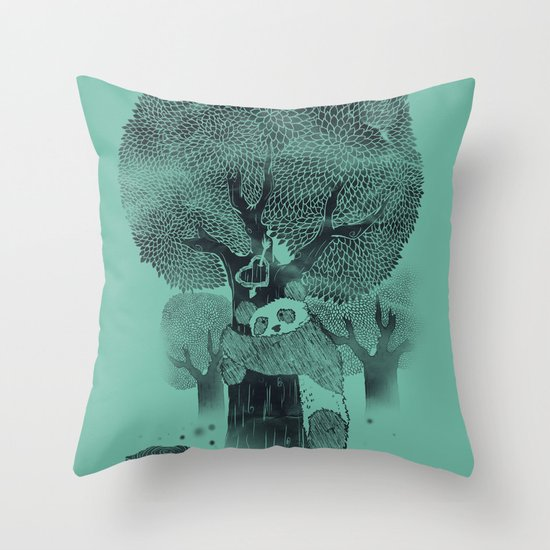 The Tree Hugger Throw Pillow