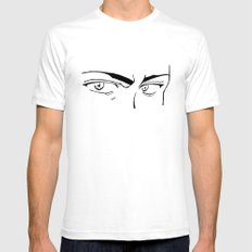 Doubt eyes White SMALL Mens Fitted Tee