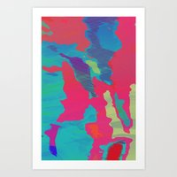 You Are Here Magenta Art Print