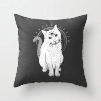 psychic Kitty 2  Throw Pillow
