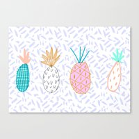 Pineapple. Illustration,… Canvas Print