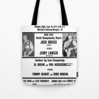 #1 Memphis Wrestling Window Card Tote Bag