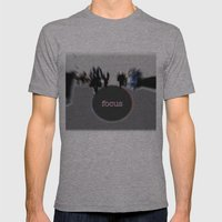 focus Mens Fitted Tee Athletic Grey SMALL