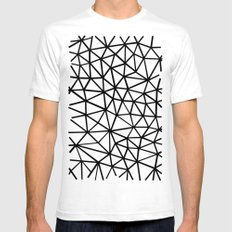 Broken SMALL Mens Fitted Tee White