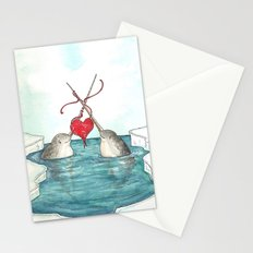 Knitting Narwhals Stationery Cards