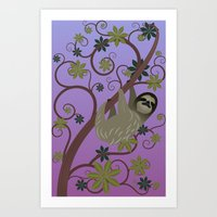 Sloth in a Tree Art Print