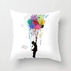 Wild Drips  Throw Pillow
