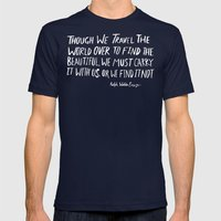 Road Trip Emerson Mens Fitted Tee Navy SMALL