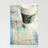 Manhattan And Starbucks Stationery Cards