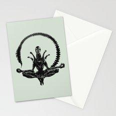 Meditation Alien Stationery Cards