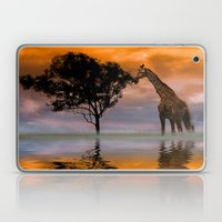 Giraffe at Sunset Laptop & iPad Skin