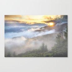 Sunrise And Dust Canvas Print