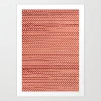 Dizzy Red Art Print