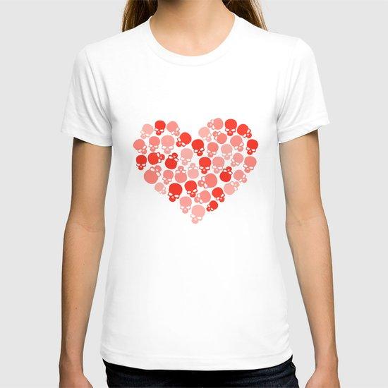 SKULL HEART FOR VALENTINE'S DAY T-shirt