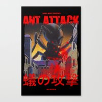 Ant Attack Canvas Print