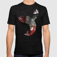 Flying Wind Mens Fitted Tee Tri-Black SMALL