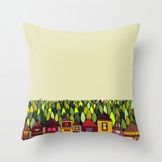 Train Back Home Throw Pillow