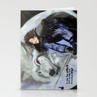 Jon Snow And Ghost Stationery Cards