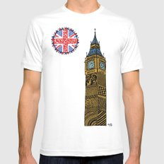 Big Ben  SMALL White Mens Fitted Tee