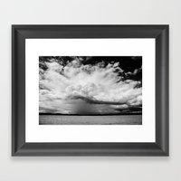 White Clouds Framed Art Print