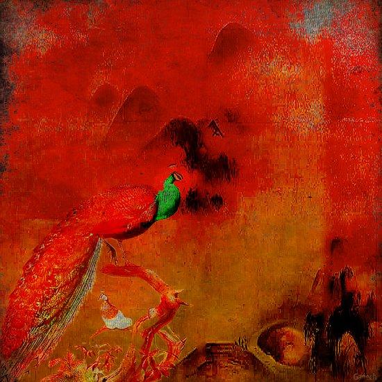 Peacock in the purgatory Art Print
