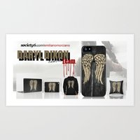 Daryl Dixon Team. ‹(-- Art Print