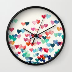 Heart Connections - Wate… Wall Clock