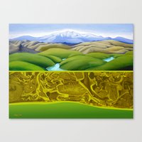 The Lie of the Land: Tararua Canvas Print