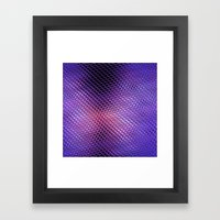 Crystals Reflection Framed Art Print