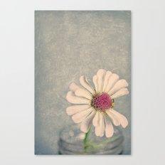 Zinnia Flower Still Life Painterly Canvas Print