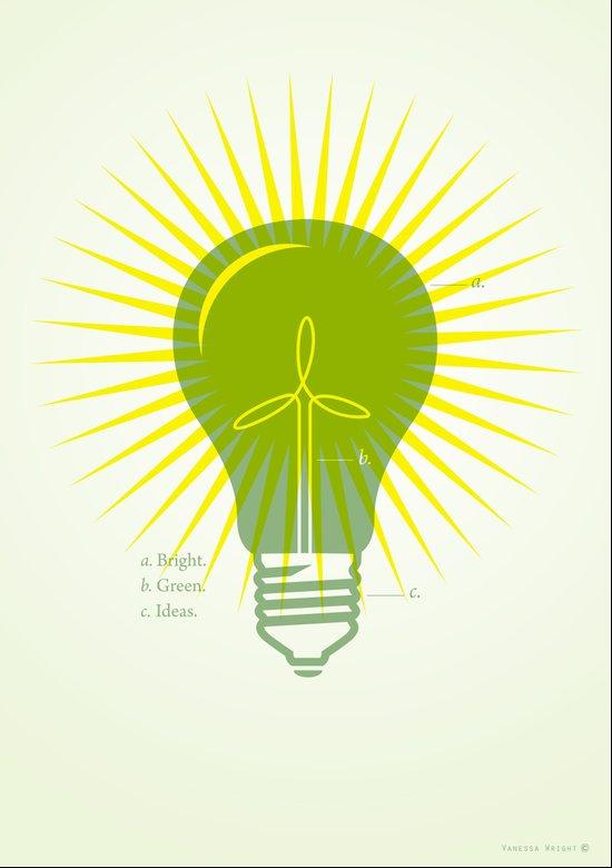 Bright Green Ideas Art Print