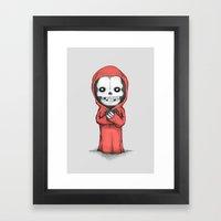 Crimson Ghost Plush Framed Art Print