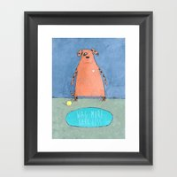 Wag More Bark Less Framed Art Print